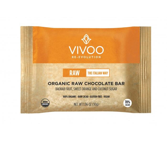 70% presna čokolada z baobabom, sladko pomarančo in kokosovim sladkorjem