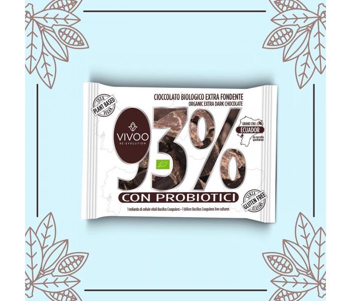 Bio 93% presna čokolada s probiotiki